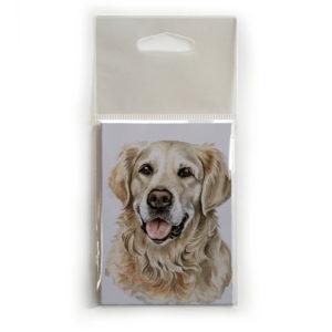 Fridge Magnet Dog Breed Gift featuring Golden Retriever