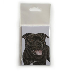 Fridge Magnet Dog Breed Gift featuring Staffordshire Bull Terrier