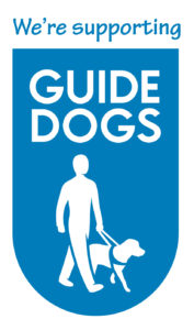 We're supporting guide dogs charity.