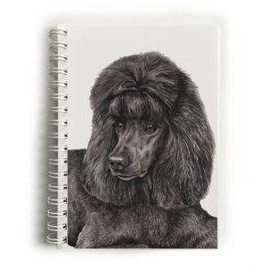 Black Poodle Notebook