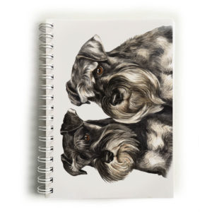 Miniature Schnauzer Pair Notebook