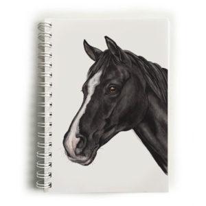 Black & White Horse Notebook