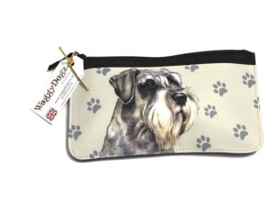 Schnauzer Dog Pencil Case Pouch Purse