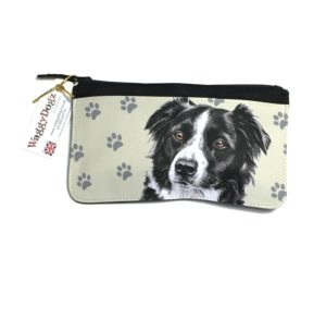 Border Collie Dog Pencil Case Pouch Purse