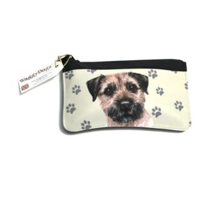 Border Terrier Dog Pencil Case Pouch Purse