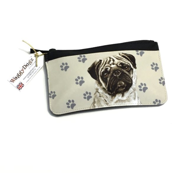 Pug Dog Pencil Case Pouch Purse