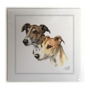 Greyhound Pair Dog Picture / Print