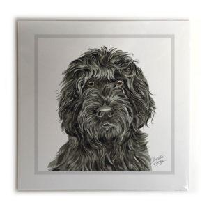 Black Cockapoo Dog Picture / Print