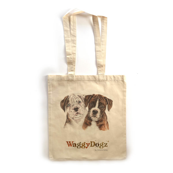 Boxer Puppies Tote Bag