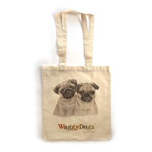 Pug Puppies Tote Bag